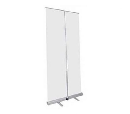 deluxe wide base single screen roll up banner stands - Made locally in Quebec, Canada
